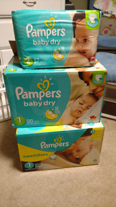 Pampers Diapers - size 1 and 2. SPPU.