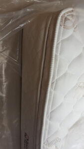 Double size pillow top mattress and box spring 200.00, VERY CLEA