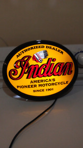 "Indian motor cycle light. $100 firm size is 11"" x 15"