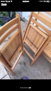Folding Wooden Chairs Peterborough Peterborough Area image 5