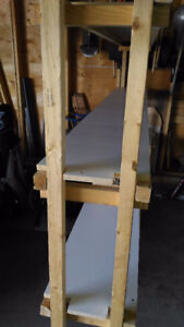 Home made shelving for garage or basement storage