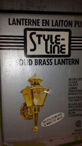 4 Brand New Brass Exterier Lights
