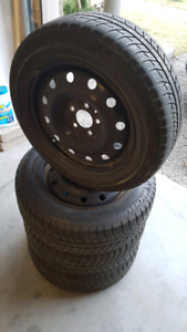 P205/60R16 Michelin Winter Tires on Steel rims