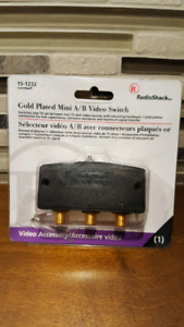 Radio Shack  Video A-B Video Switch Gold Plated