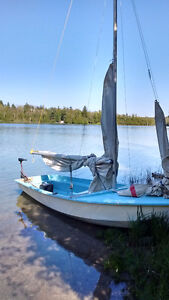 REDUCED CL 14 sailboat/ trailer/ trolling motor/ marine battery