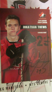 Jonathan Toews post card