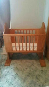 Solid wood Mennonite  cradle