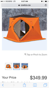 New heavy duty 4 man ice fishing tent and new skimmer