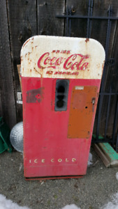 Vintage  metal coke  machines