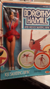 Dorothy Hamill Barbie doll action figure