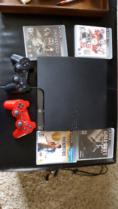 Playstation 3 120GB w/ 2 Controllers And 4 Games!
