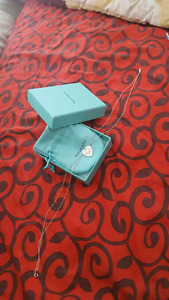 Tiffany and co. Heart necklace double chain