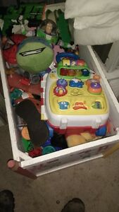 SOLID WOOD TOY BOX FULL OF GOOD TOYS & GAMES $60 DELIVERED Kitchener / Waterloo Kitchener Area image 3