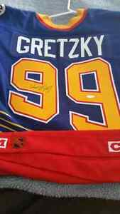 AUTHENTICATED, SIGNED WAYNE GRETZKY JERSEY (BLUES)