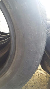 4  Used 215/ 60/ R16 All Season Tires No RIMS  for sale Kitchener / Waterloo Kitchener Area image 2