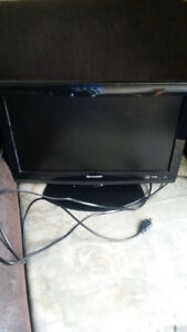 """Sharp 22"""" flat screen tv with hdmi plugin and cord"""
