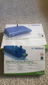FS: TRENDnet 54Mbps 802.11g Wireless Router & USB 2.0 Adapter