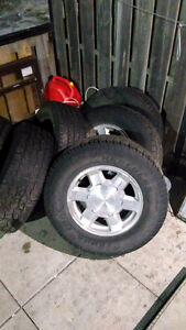 265/75/17 tires and GMC  rims