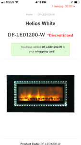 Wall hanging electric fireplace brand new still in the box