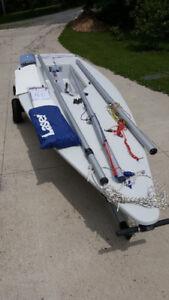 Laser sailbost:  2009 World's Full Rig Laser For Sale