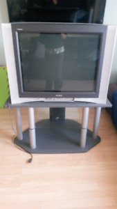 """32"""" CRT Sony HDTV with stand"""