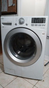 2015 LG WM3170CW 4.3 Cu stackable Washer and Kenmore Dryer