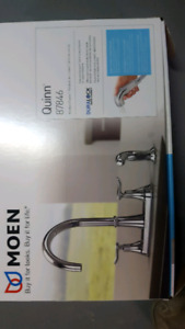Moen kitchen faucet with side sprayer