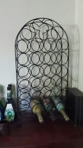 WROUGHT IRON WINE RACK