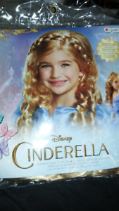 kid's Disney Cinderella wig. NEW, never out of package.