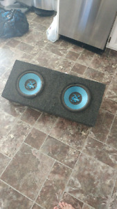 """Two 10"""" Jensen Subs and Sealed Box"""