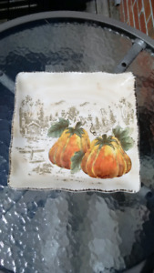 Pumpkin Fest Ceramic serving dish /  tray