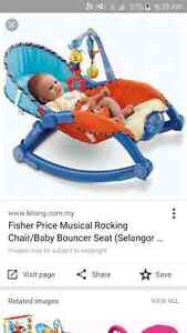 fisher price musical rocking 3 in 1 chair