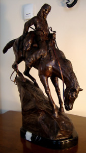 antique bronze veritable de frederic remington mountain man