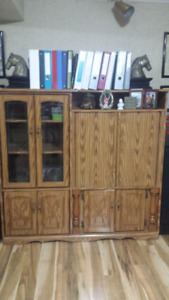 Solid Wood TV Stand $100