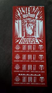 4 tickets TFC vs Portland Sat April 27th
