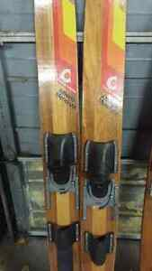 Wooden water skis Windsor Region Ontario image 1
