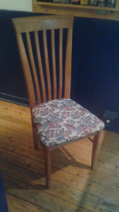 Cushioned Wooden Chair
