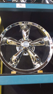"NEW 20"" 5X115 5X114.3 CHROME VISION ALLOY RIMS"
