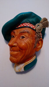 "1969 Bosson Head ""Jock"" Scottish Man Scotland Chalkware"