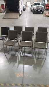 Aluminum fabric/leather chairs