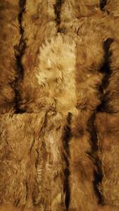 Natural Goat Skin Pelt Fur Rug for Home and Decor