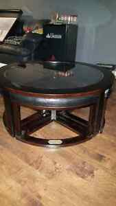 Ducks Unlimited Coffee Table with Ottomans