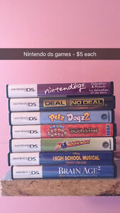 Variety of DS Games