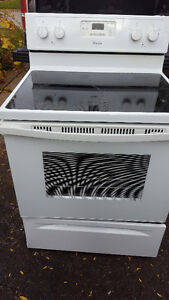 Apt. size fridge and ceramic top stove 350.00. I WILL SEPARATE