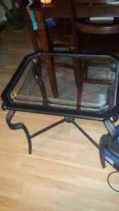 Wrought iron coffee table & side tables London Ontario image 4