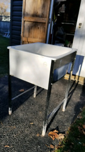 Sturdy Deep Enameled Laundry Sink with Stand