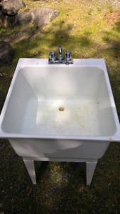 Laundry Sink with Faucets