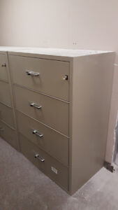 Lateral Fire Resistant File Cabinet - 4 Drawer Legal