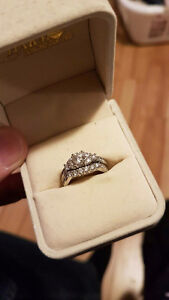 Real Canadian engagement ring and wedding band