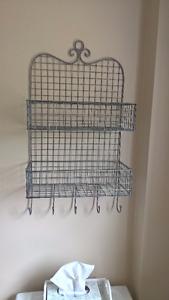 Beautiful iron shelf from Home Sense with hooks